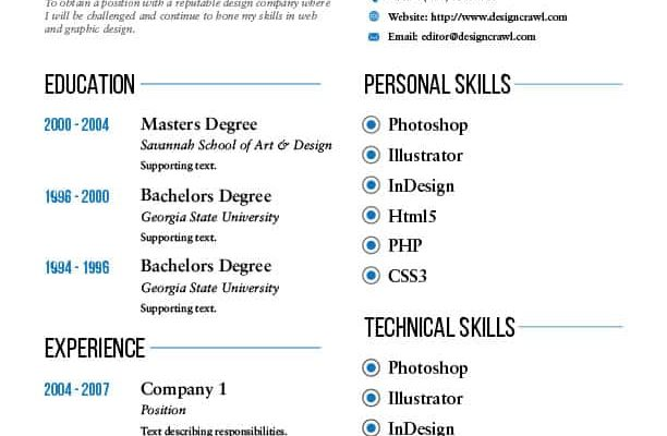 Design Crawl Resume Template