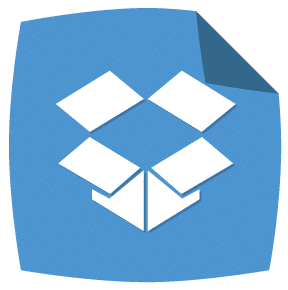 Dropbox: Peeling Corner Social Media Icons