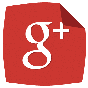 Google+ Peeling Corner Social Media Icons