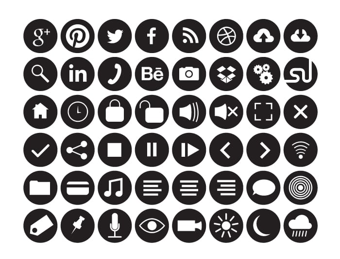 48 free hollow and solid fill circle icons