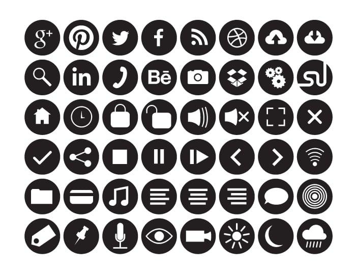 Flat Circle Icons Fill