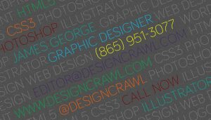 typographic business card template