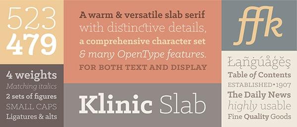 Klinic Slab: Free Slab Serif Fonts