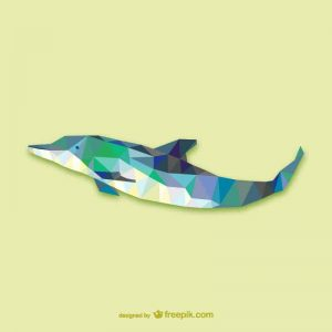 Vector geometric animals: Dolphin