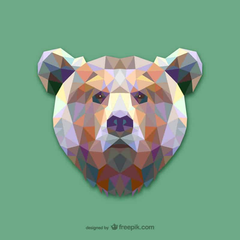Vector geometric animals: bear