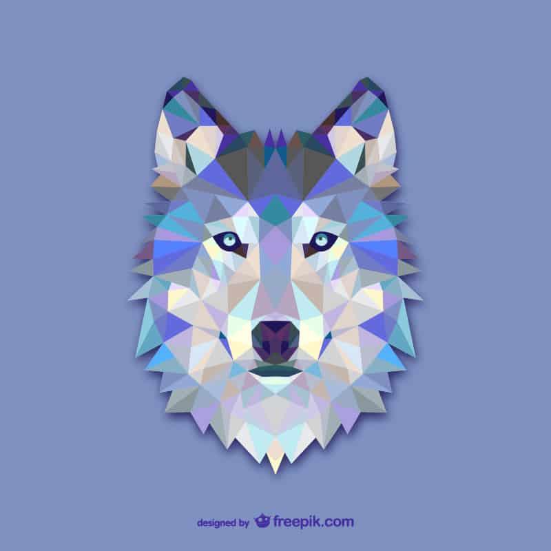 Vector geometric animals: Wolf