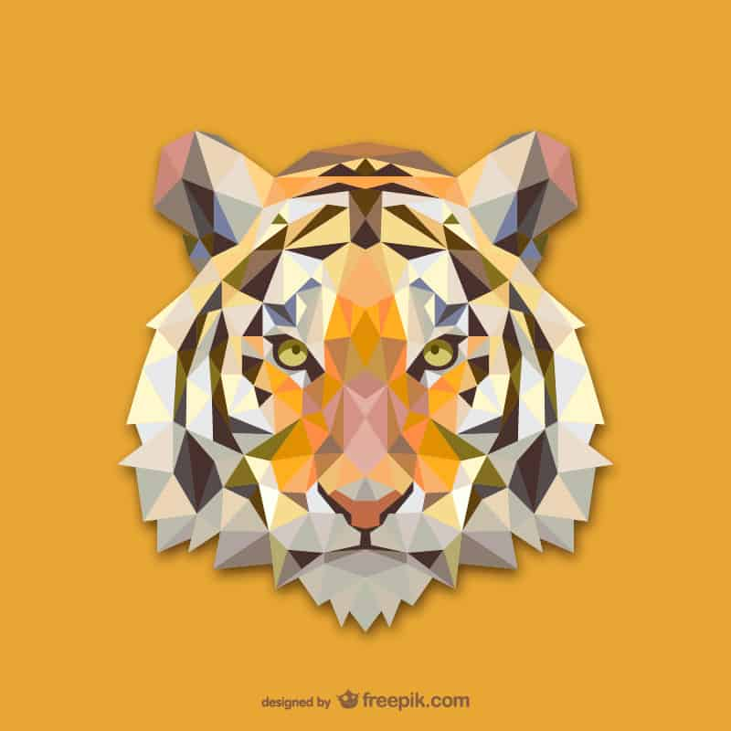 19 01 Vector Geometric Animals: Tiger