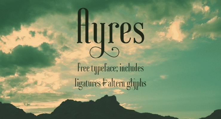 Ayres free font: Main