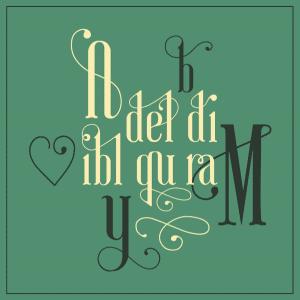 Ayres free font: glyphs