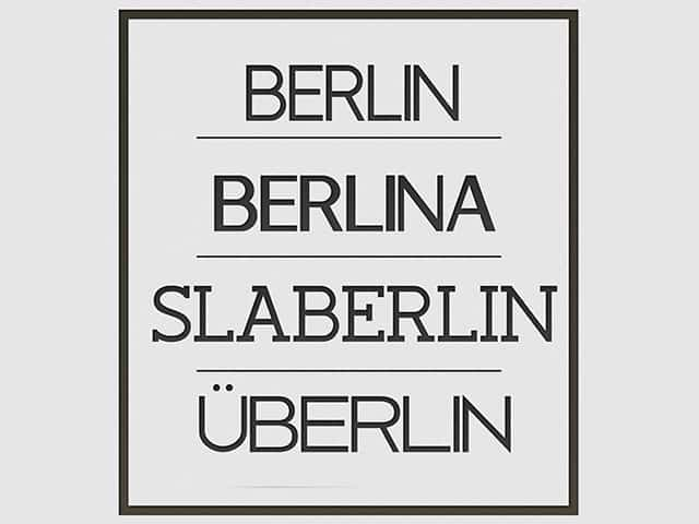 Free Retro Fonts: Berlin