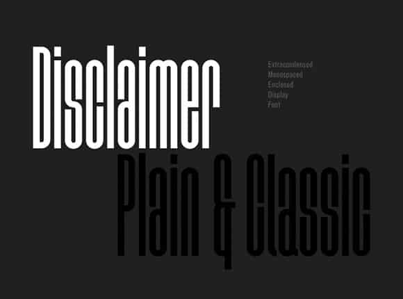 Free Retro Fonts: Disclaimer