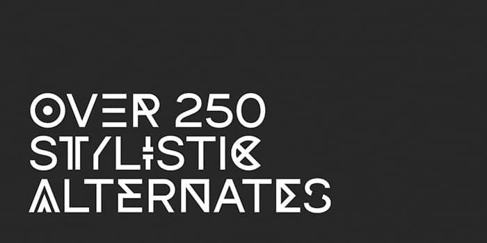 dual free font 250 alternates