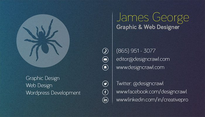 Textured Business Card Template Side 2