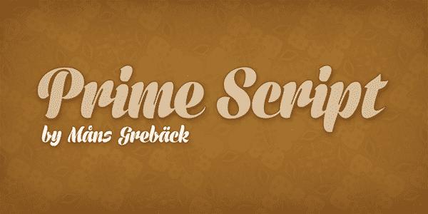 Best Free Script Fonts - prime_script