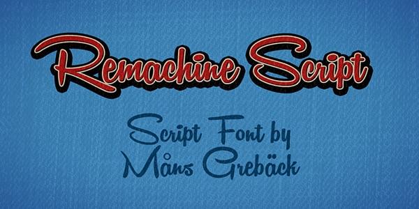 Best Free Script Fonts - script fonts-remachine
