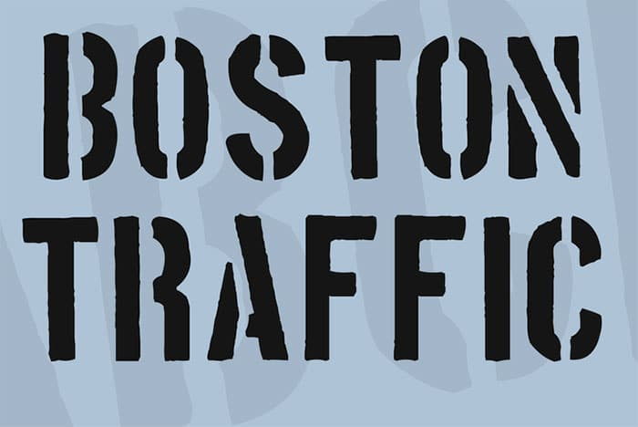 best stencil fonts - boston traffic