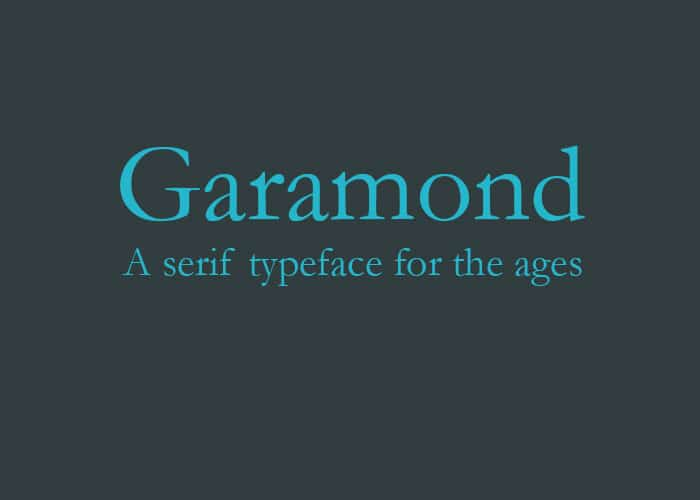 Garamond: top 5 fonts