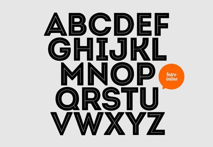 One Line Font Art : Best free inline fonts design crawl