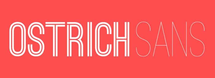 Ostrich Sans: Best Free Inline Fonts