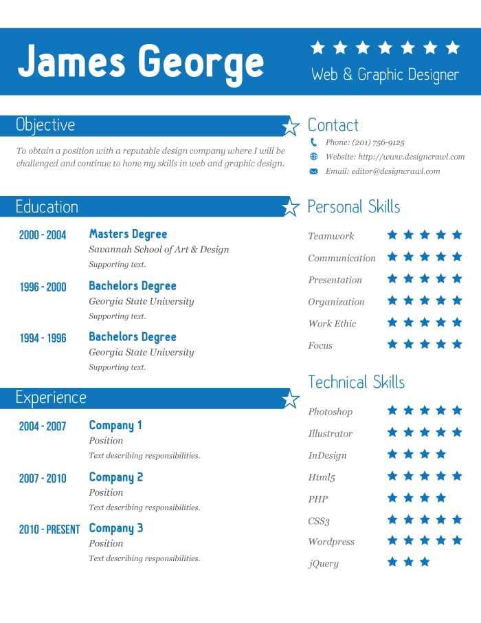 Free resume template 2 ai format design crawl for Free resume editing software