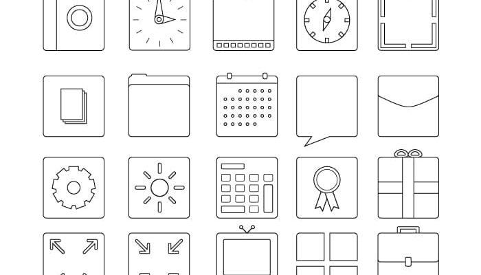 Squarecons Free Icon Set