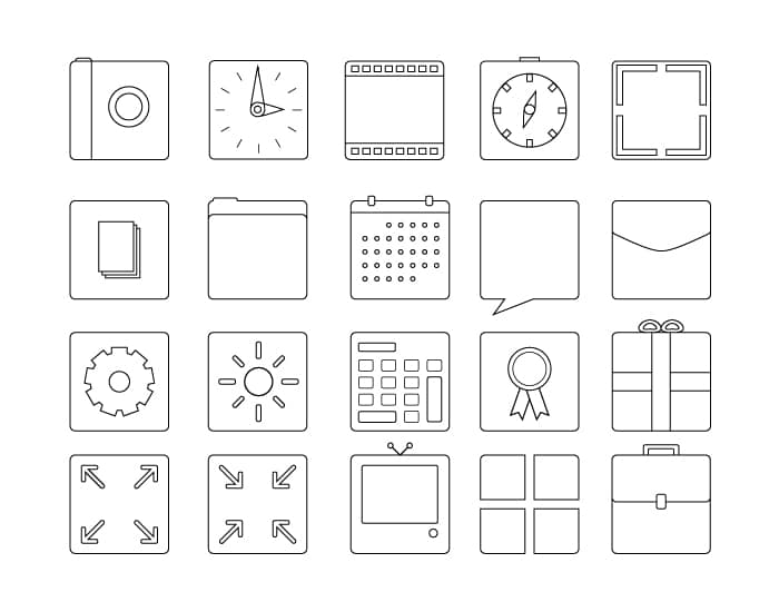 Squarecons Icon Set