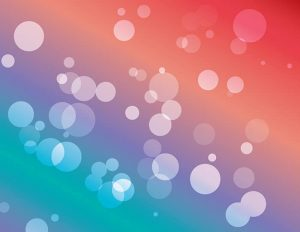 Vector Bokeh backgrounds: cyan to red