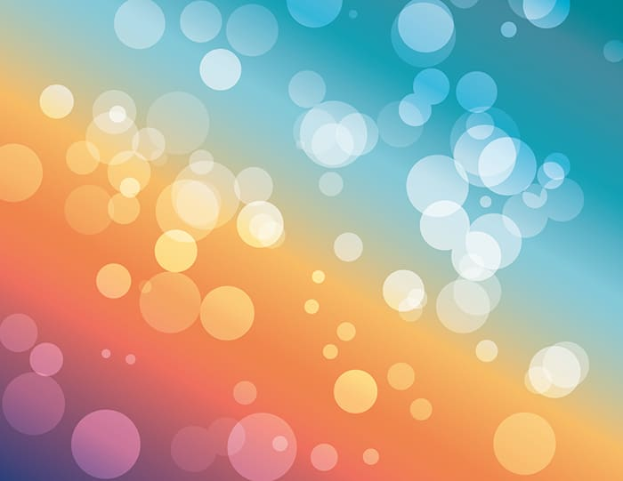 Vector Bokeh:blue orange purple