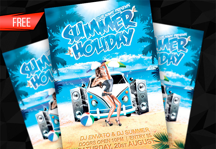 Summer-Holiday-free flyer templates
