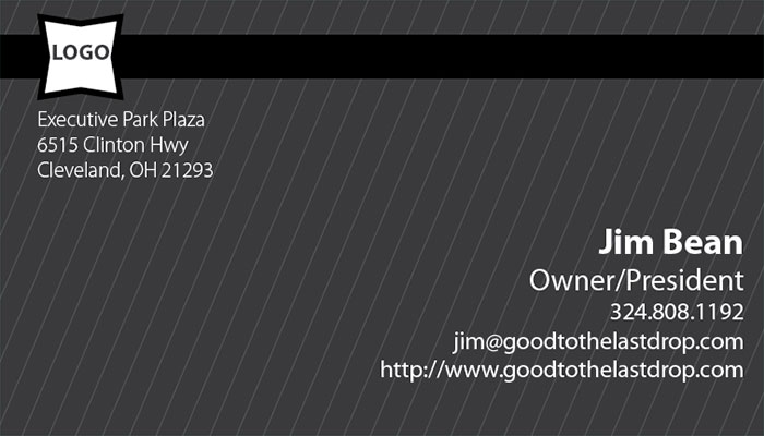 Pinstripe business card templates: Grey info