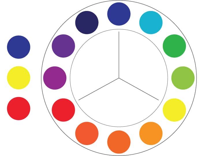Color Theory: Primary colors example