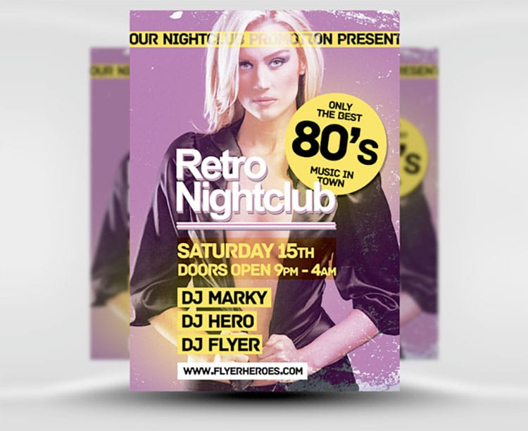 retro-flyer-templates