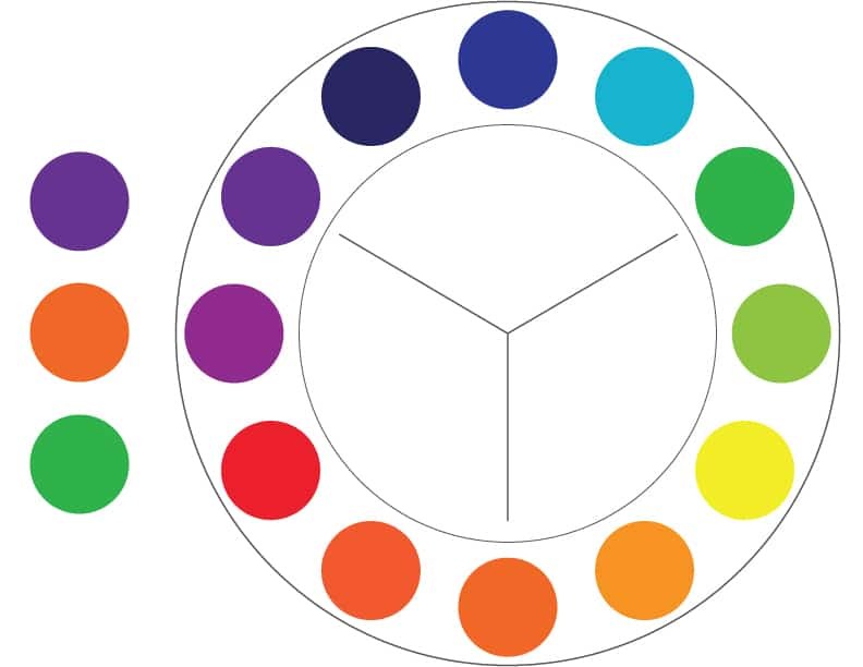 Color Theory: Secondary colors example