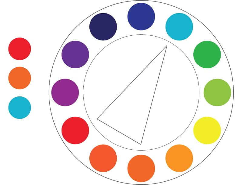 Color Theory Split Complementary Example