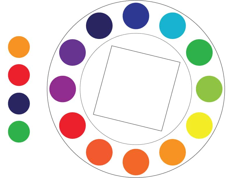 Color Theory: square color model