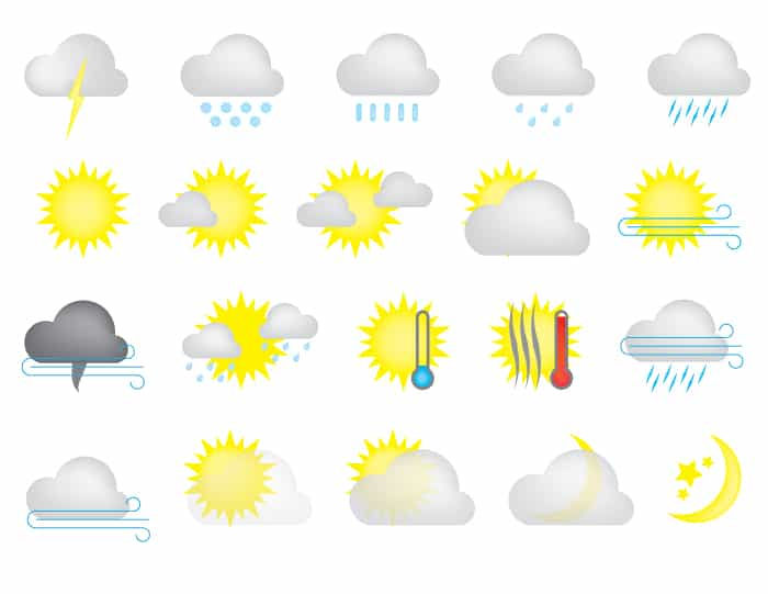 Free Weather Icons (Flat + Dimensional)