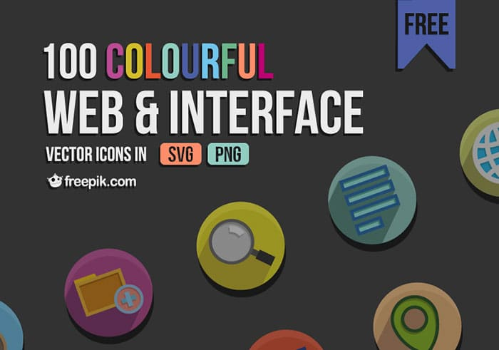 Free Web Interface Icons (PNG + SVG)