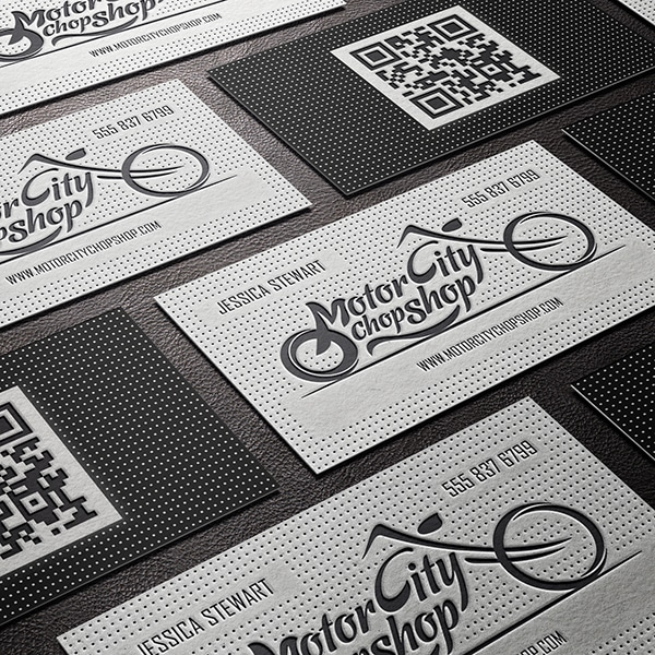 Letterpressed & Embossed Business Cards