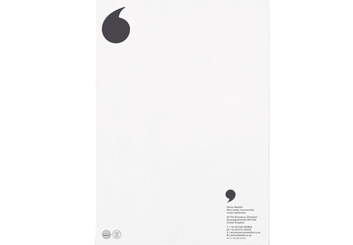 Letterhead design: alignment