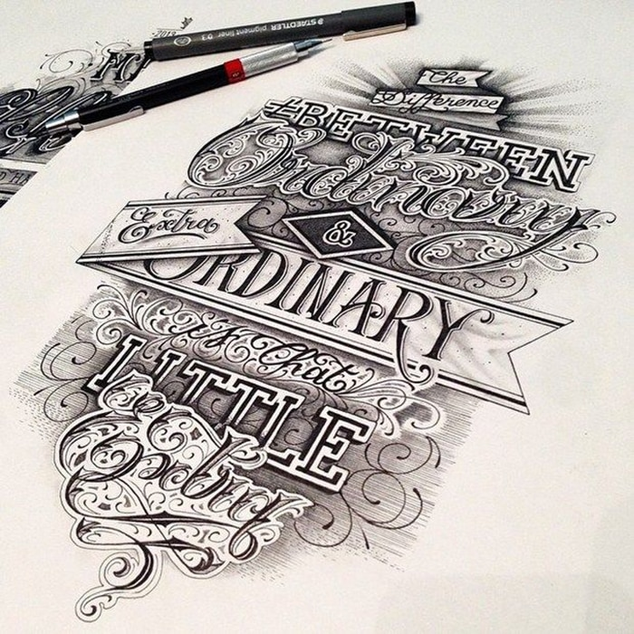 amazing hand written type