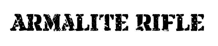 Grunge fonts - armalite