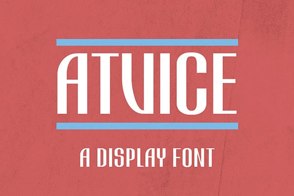 Atvice: New Free fonts