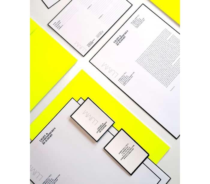 black outline - creative letterhead design