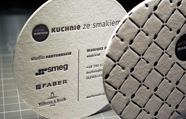 50 Fantastic Letterpress Business Card Examples