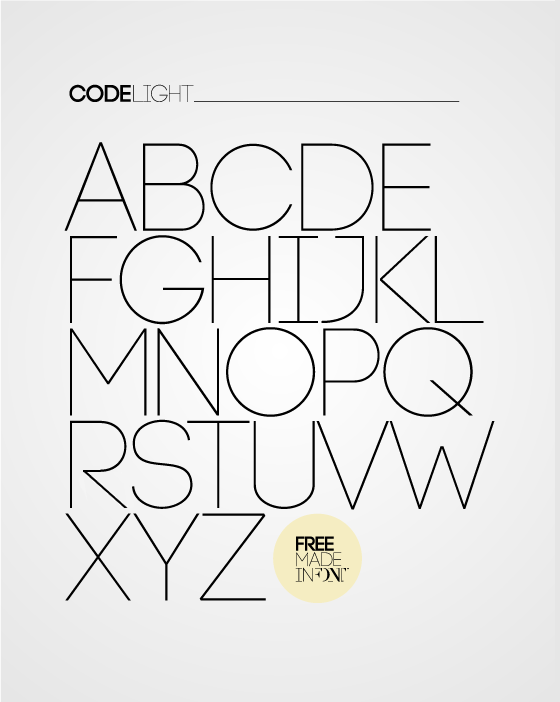 code free thin fonts