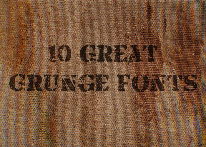 10 Great Grunge Fonts for the Destroyed Look