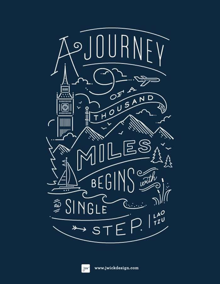 Inspiring typography: A Journey of 1000 miles