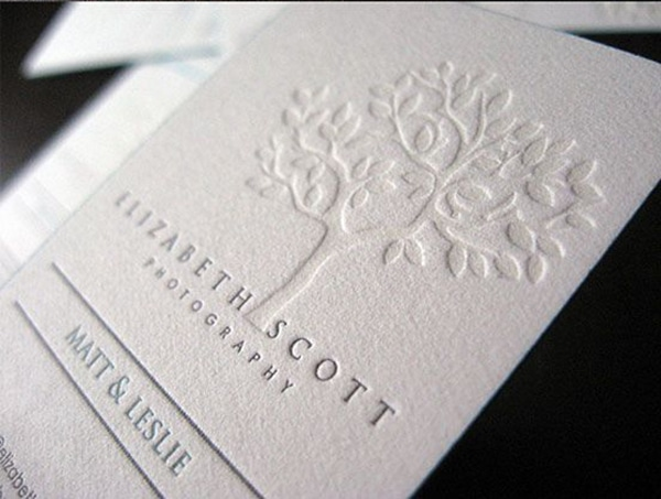 Letterpress Business Card Examples - lizscott tree