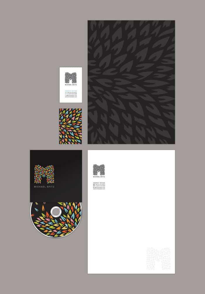 m - creative letterhead design
