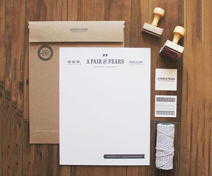 pears - creative letterhead design